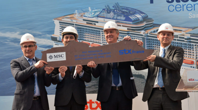 """Cruise and Travel Report MSC Cruises' First Next Generation Ship Named """"MSC Meraviglia,"""" As First Steel ..."""